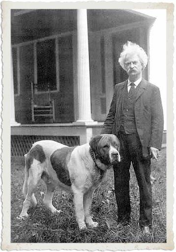 Mark Twain & dog