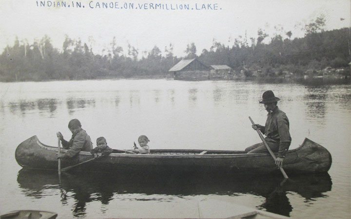 Bois Forte Band of Chippewa canoeing on Lake Vermilion