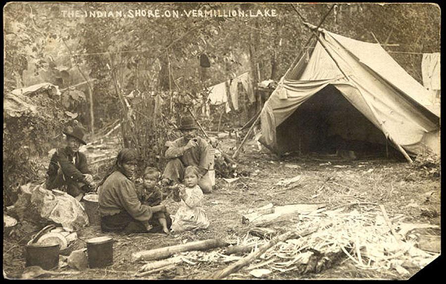 Bois Forte camp on Lake Vermilion