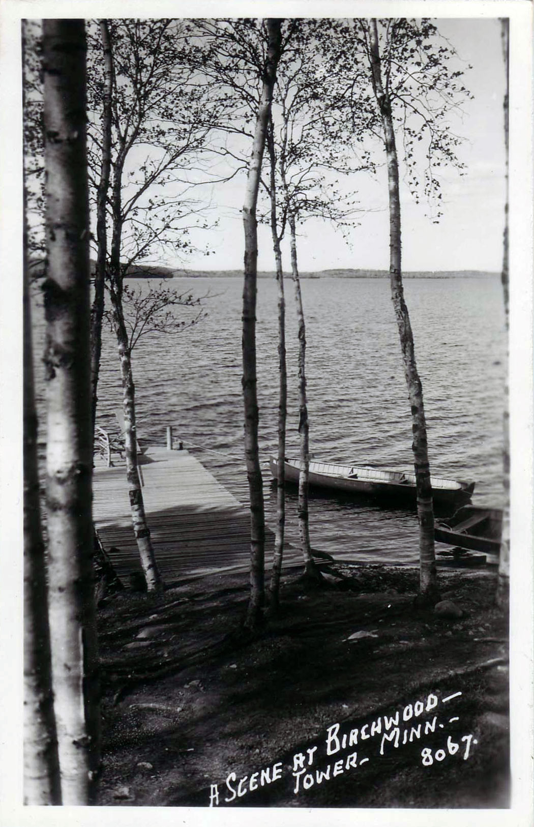 The lake shore and boat dock at Birchwood.