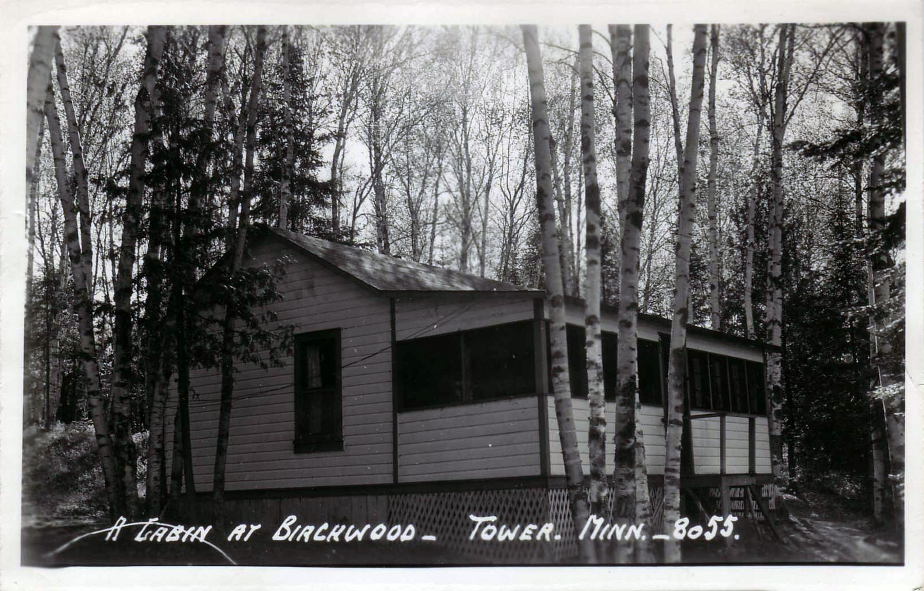A simple summer cabin at Birchwood, a Lake Vermilion resort.