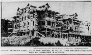 The North American Hotel, in the Townsite of Walsh in Kugler Township of Minnesota