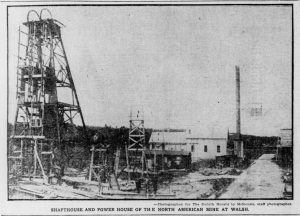 North American Mine - Looking NW from the end of the road to the Town of Walsh.