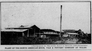 North American Brick, Tile and Pottery Company area.