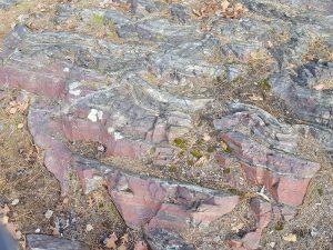 Jasper formation at the top of Jasper Peak.